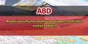 Türkiye'nin vize uyguladığı ülkeler – 1