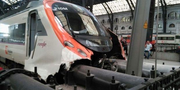 Barselona'da tren kazası !