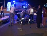 Gece işçileri taşıyan minibüs kaza kaptı!