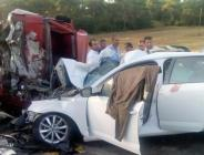 Kamyon, iki otomobil feci kaza: 1 ölü, 9 yaralı