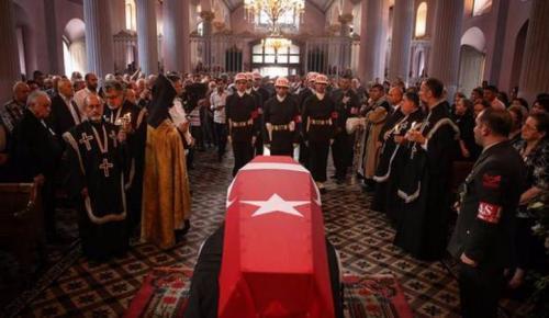 Kıbrıs Gazisine kilisede son veda