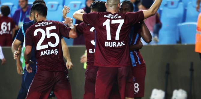 Trabzonspor geç açıldı!