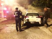 Aydın'da polis aracına kundaklama