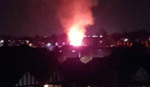İngiltere'de şiddetli patlama!