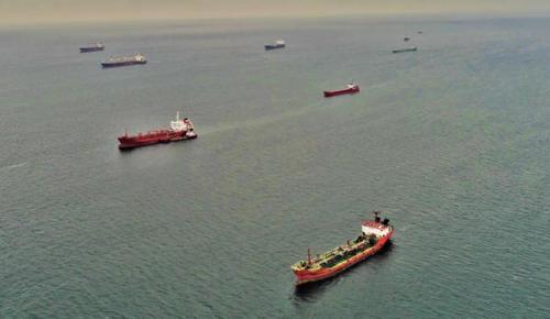 Marmara Denizi'ndeki hayalet gemiler havadan görüntülendi