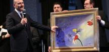 Soylu'nun yaptığı resim 500 bin liraya satıldı