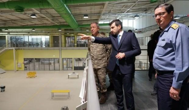 Afrin'de görev yapan İHA'ları fabrikada inceledi