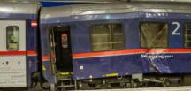 Avusturya'da trenler çarpıştı