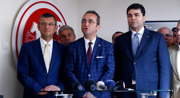 CHP heyeti, DP Genel Başkanı Uysal ile görüştü