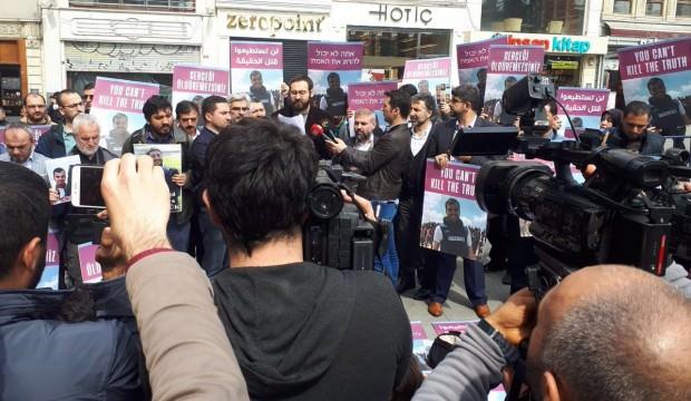 Filistinli gazetecinin vurulması protesto edildi