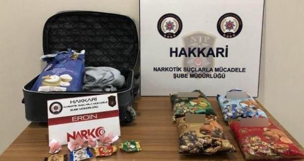 Havalimanında valizde 8,5 kilo eroin ele geçirildi