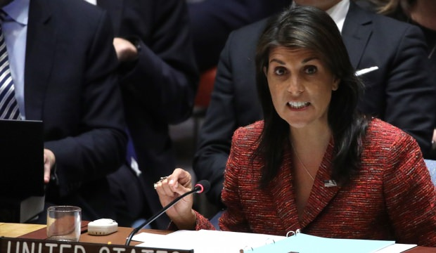 BMGK Filistin için toplandı, Haley'den küstah sözler