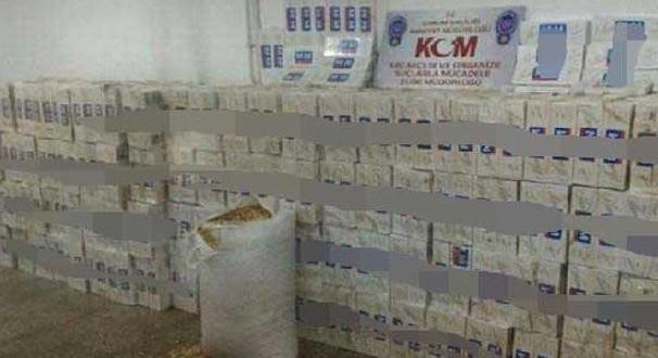 Çorum'da tam 35 bin 600 adet kaçak sigara