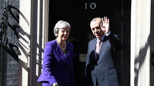 Recep Tayyip Erdoğan İngiltere'den ayrıldı
