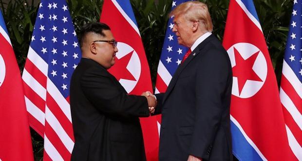 Trump-Kim Jong-un ile görüştü