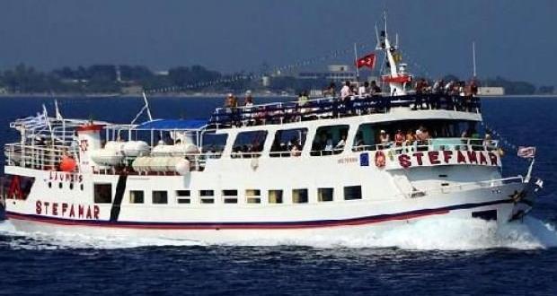 Arızalanan Yunan feribotu Bodrum'a çekildi