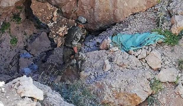 Herekol Dağı'nda sığınaklar imha edildi